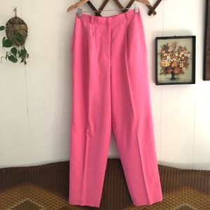 Bubble Gum Pink Silk Trousers